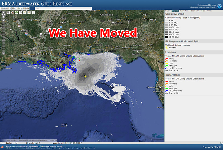 ERMA Gulf of Mexico screen shot.
