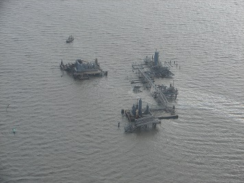 The two back-to-back hurricanes devastated the Gulf Coast in 2005, causing damage that led to numerous oil and chemical spills along the heavily industrialized coast. (NOAA)