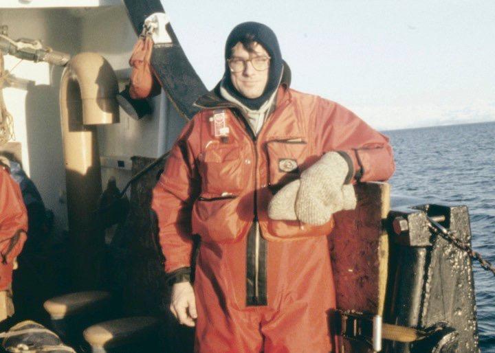 A man on a ship.