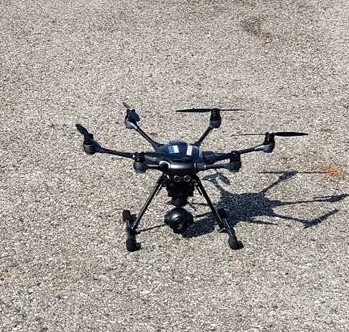 Drone pictured in the ground.