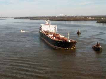 The tanker Athos I, carrying crude oil from Venezuela, was preparing to dock at a refinery in New Jersey when it ripped its hull on a submerged anchor. This caused its cargo of oil to begin gushing into the Delaware River. (NOAA)