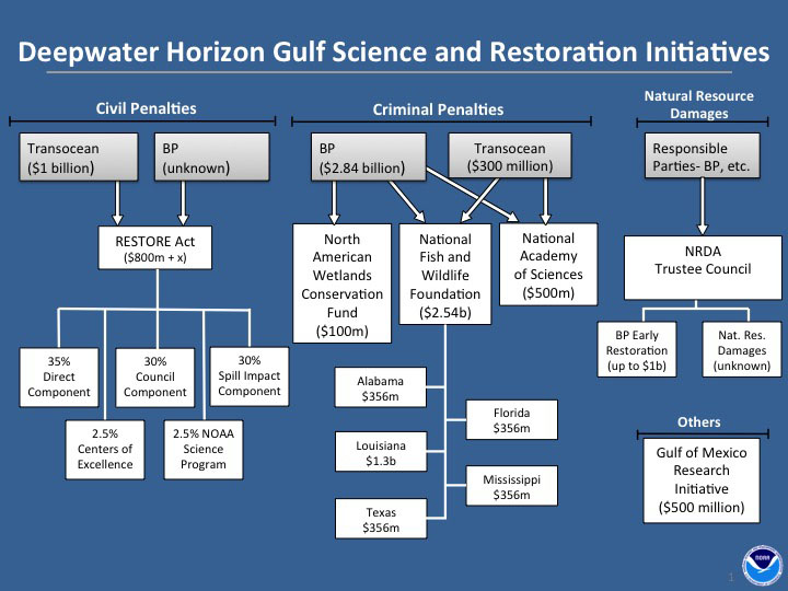 Who Is Funding Research And Restoration In The Gulf Of Mexico After