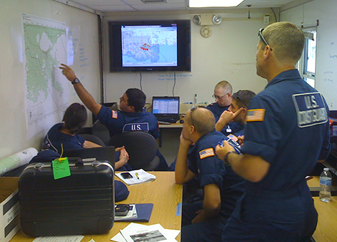 The U.S. Coast Guard uses ERMA during the response to Hurricane Isaac in September 2012.