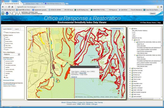 Announcing ESI Data Online! | response restoration noaa gov