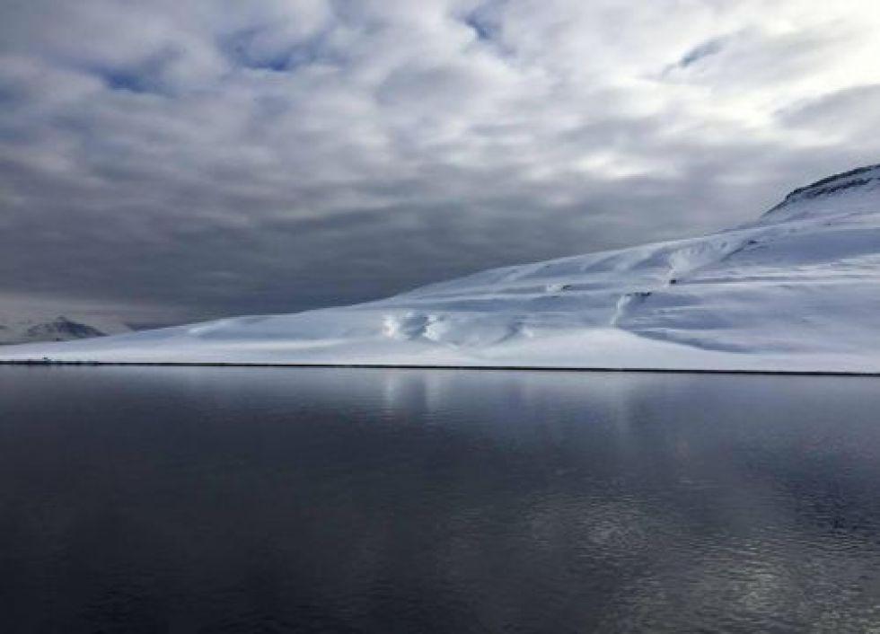 Fjord off the coast of Longyearbyen, Svalbard, Norway. Image credit: NOAA.