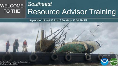 Resource Advisor Training opening slide.