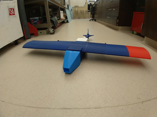 Fixed wing unmanned aerial surveillance aircraft