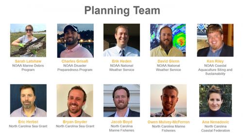 Photos of workshop planning team.