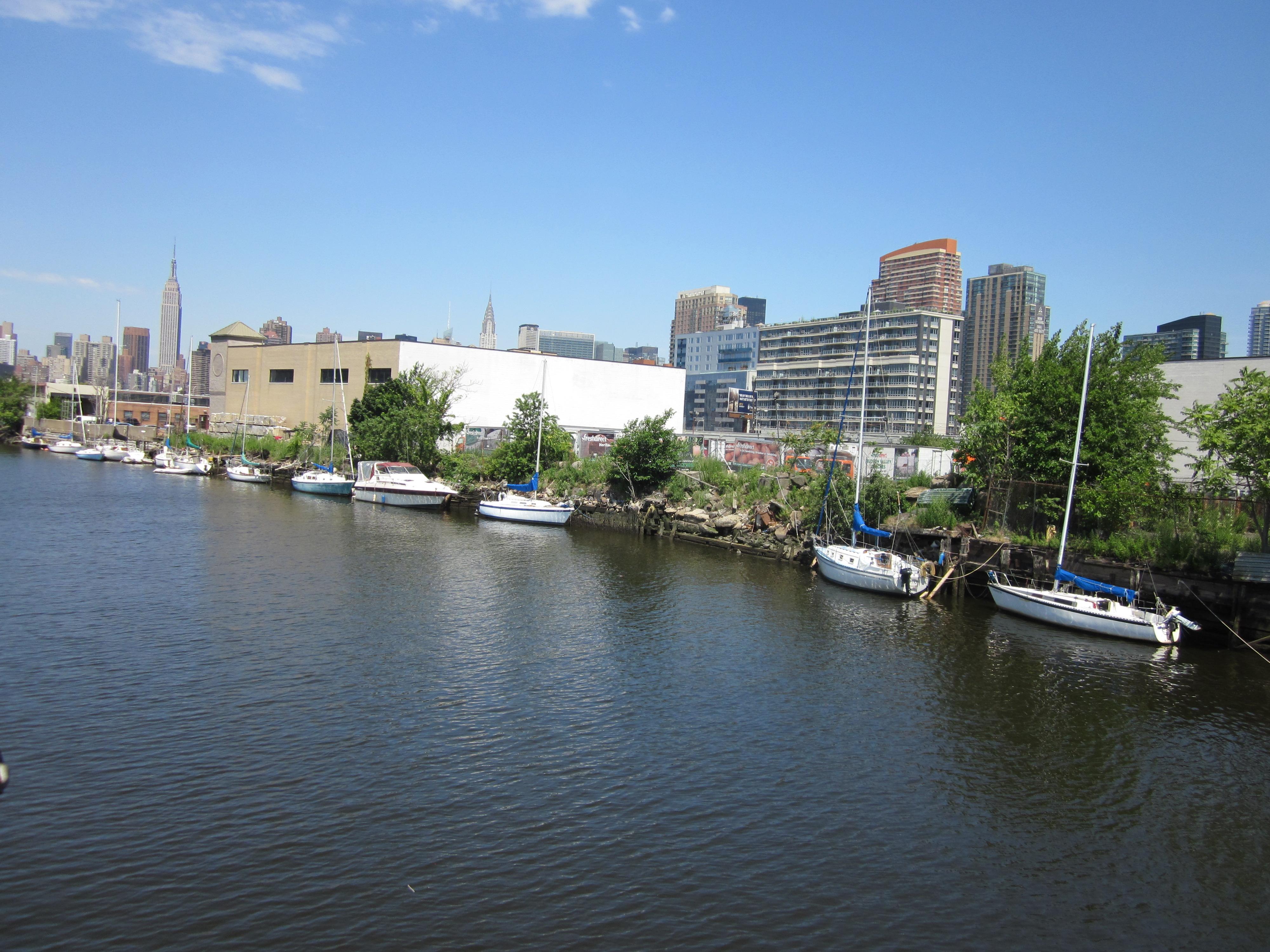 Urban riverfront.