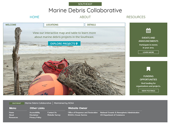 Marine Debris Collaborative Webpage
