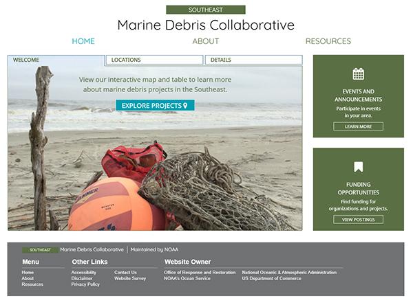 Marine Debris Collaborative Webpage