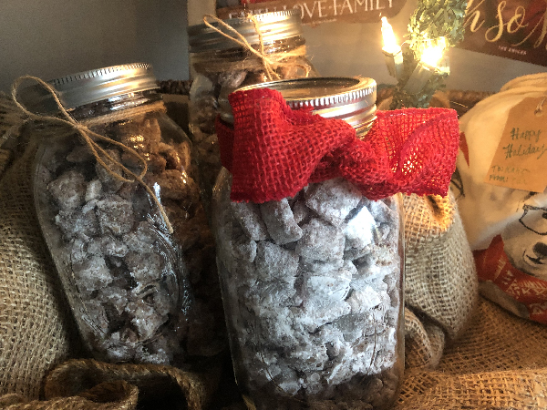 Holiday gifts in jars