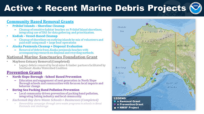 Mao with details of projects funded by NOAA MDP in Alaska provided to Sen. Sullivan.