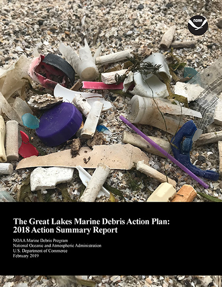 Report cover showing marine debris.
