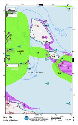 ESI Map of Mackinac Island and Lake Huron.