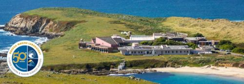 Aerial photo of Bodega Bay Lab.