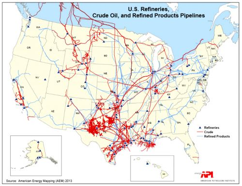 Crude Oil Transportation Seminar To Address Risk Of Spills In The - Map of oil spills in the us