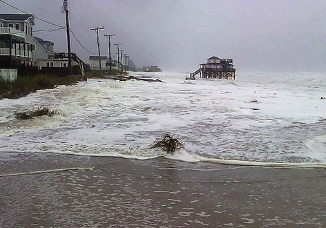 Kitty Hawk, North Carolina, Hurricane Sandy on the morning of October 29, 2012.