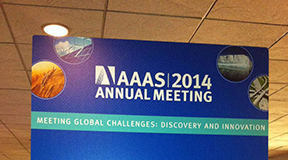 Sign from the AAAS Meeting.