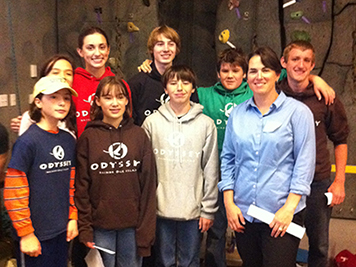 Amy Merten with students from the 2012 Salish Sea Expeditions program.