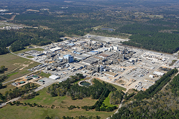 Aerial view of BASF chemical plant in McIntosh, Ala.