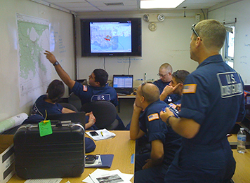 Coast Guard using NOAA's Gulf of Mexico ERMA® application after Hurricane Isaac.