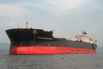 Ship Exxon Mediterranean in waters off Trieste, Italy.