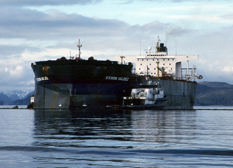 The ship Exxon Valdez.