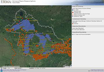Great Lakes ERMA screen shot.