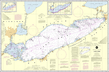 NOAA chart of Lake Erie.