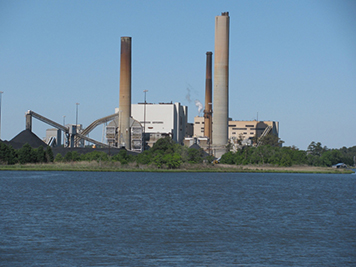 Indian River Power Plant on the edge of Indian River Bay in southern Delaware.