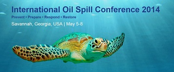 International Oil Spill Conference 2014 banner with sea turtle graphic.