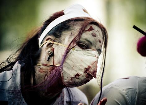 Zombie nurse.