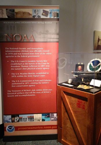 Beginning banner of the Treasures of NOAA's Ark exhibit explaining our history.