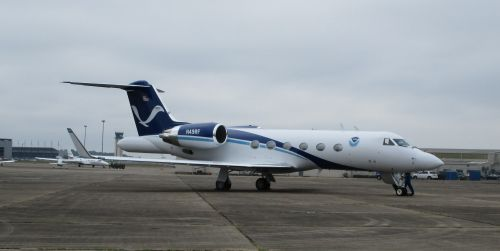 Image of the NOAA Hurricane Hunters plane.