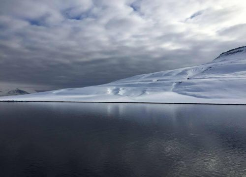 Fjord off the coast of Longyearbyen, Svalbard, Norway. Image credit: NOAA.