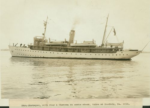 Historical photo of NOAA ship. Image credit: NOAA.