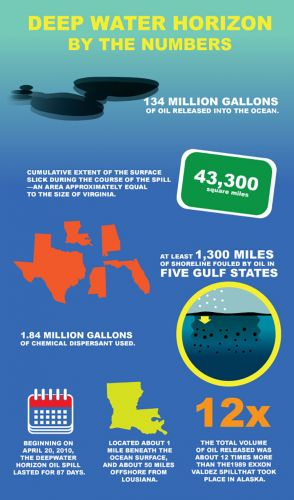 Infographic about Deepwater Horizon.