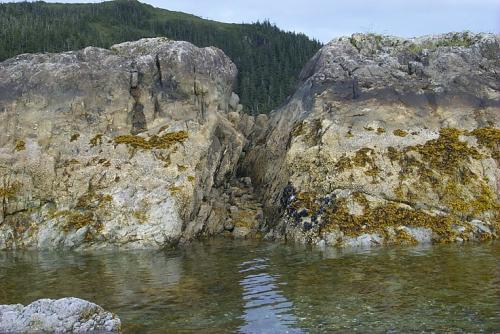 Photo: Rocky shoreline in Prince William Sound in 2003.