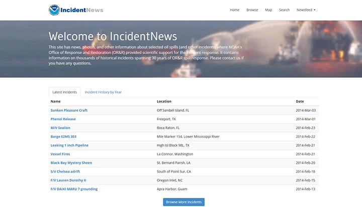 IncidentNews home page.