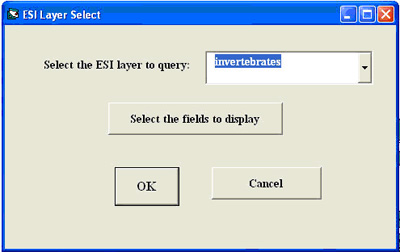 Choose the ESI layer you want to query in the ESI Layer Select dialog box.