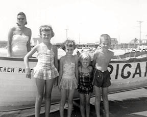 My family vacationing on Brigantine in the 1960s.