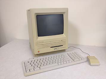 The cutting-edge Macintosh SE computer.