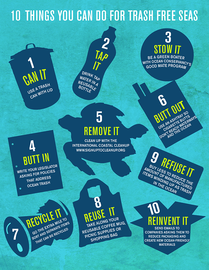 10 things you can do for trash free seas.