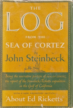 "The cover of John Steinbeck's book ""The Log of the Sea of Cortez,"""