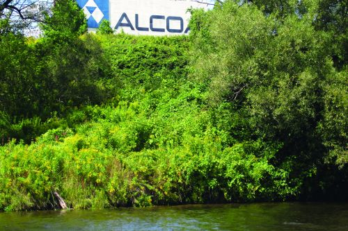 Alcoa Aluminum plant in Massena, New York