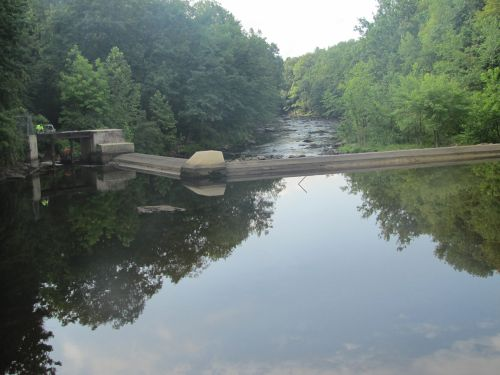 Photo: Downstream view of McLane Dam.