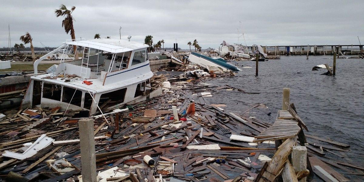 Hurricane debris.