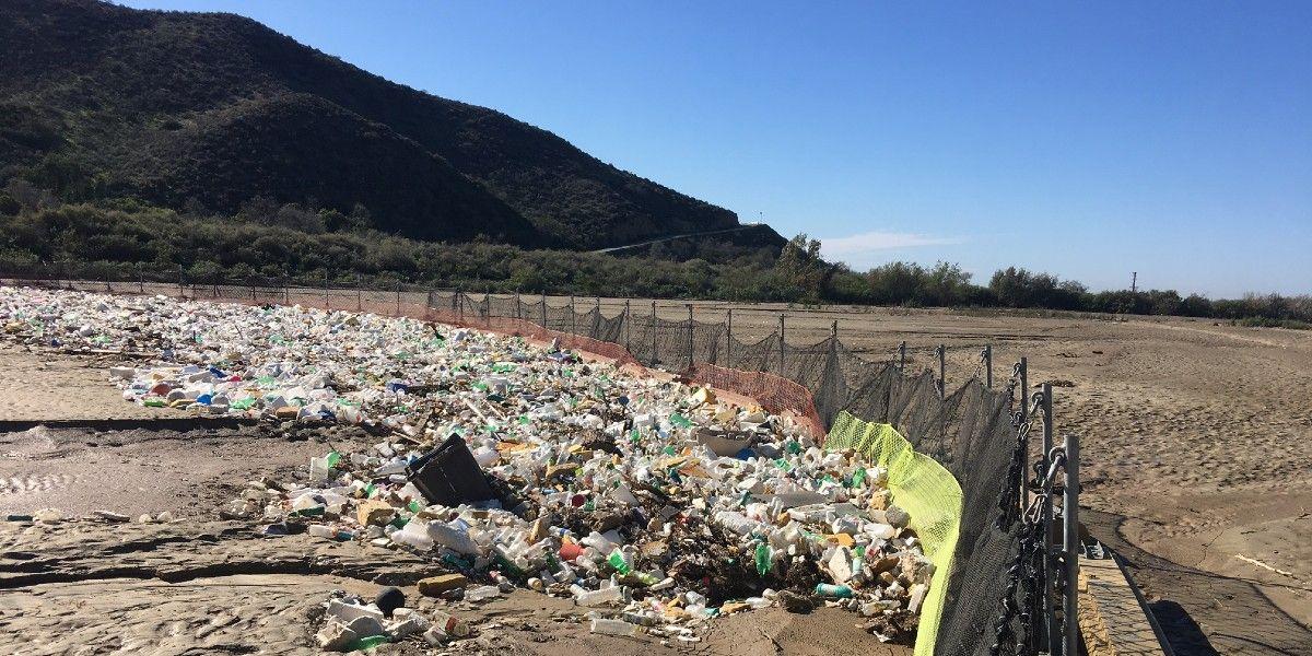 A trash boom.
