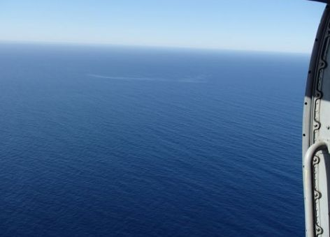 Ocean with sheen. Image: U.S. Coast Guard.